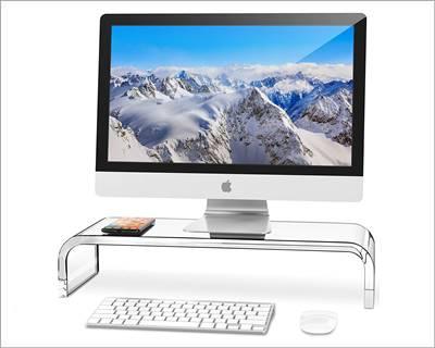 AboveTEK Premium Acrylic Monitor Stand