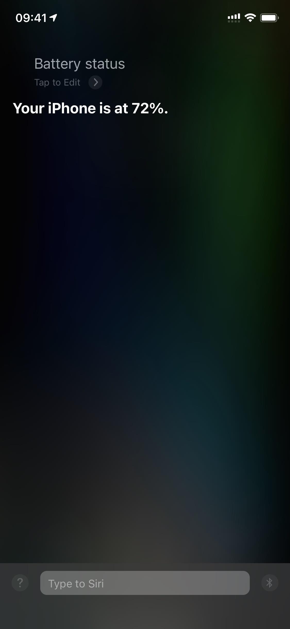 ask siri iphone battery percentage