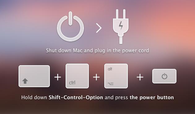 Reset the SMC to Fix MacBook pro not charging